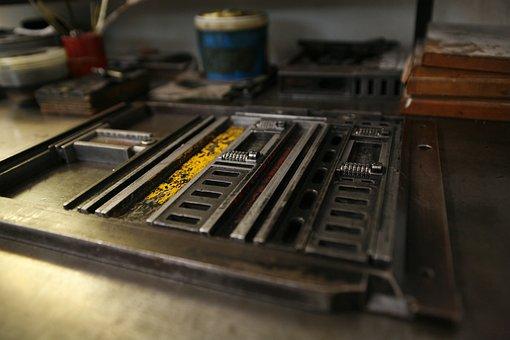 Typography, Catholic, Lyrics, Lead, Printing Tece