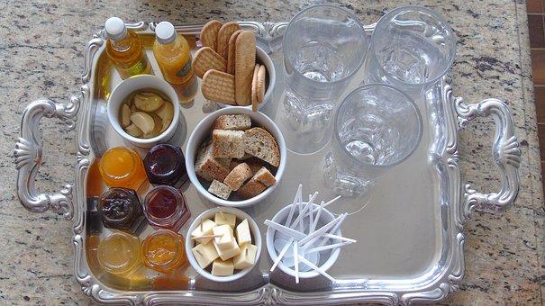 Tasting, Jelly, Toast, Food, Serving, Snak