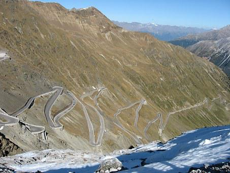 Stelvio Yoke, Mountain Pass, Stelvio, Panorama, Sky