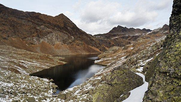 Spronser Lakes, Mountain Lake, Alpine Lake, Little Lake