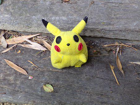 Pokemon, Comic, Stuffed Animal, Toys, Picachu