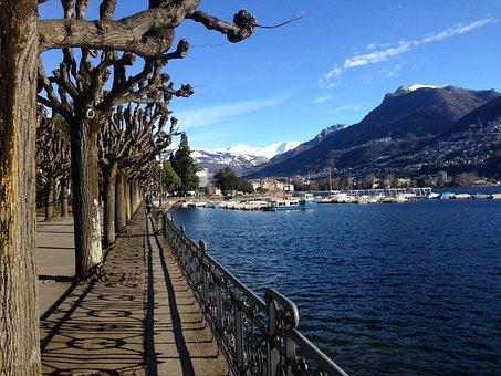 Lugano, Riva Caccia, Lake Front, Switzerland