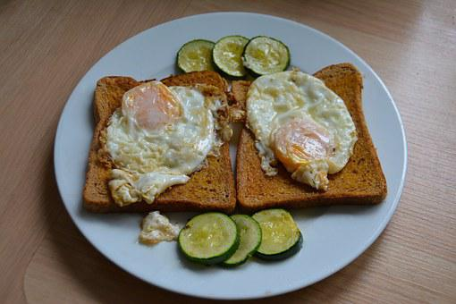 Egg On Toast, Breakfast, Food, Bread, Toast, Meal, Egg