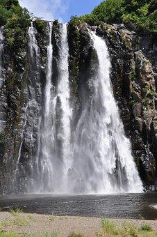 Waterfalls, White, Water, Flowing, Falling, Down, Rocks