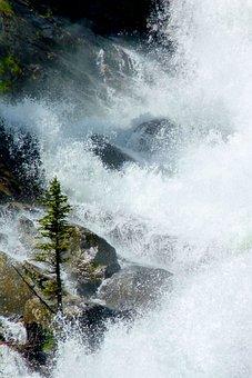 Water Splash, Splashing, Water, White, Waterfalls