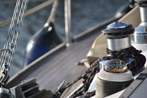 Sailing Vessel, Compass, Winch, Sail, Water, Boats