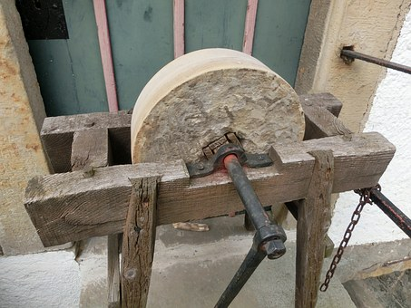 Middle Ages, Grinding Stone, Tool, Workshop, Work
