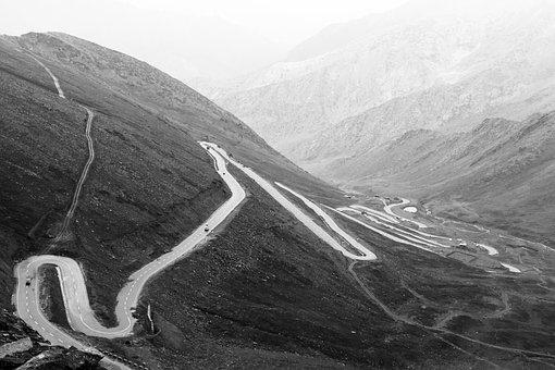 Road Image, Turning Mountain Highway, Zig Zag Road