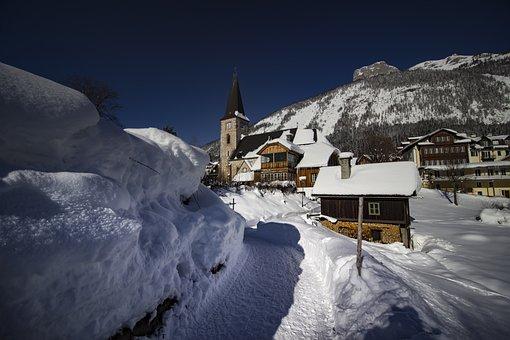 Snow, Winter, Ice, Cold, Frozen, Altaussee, Styria