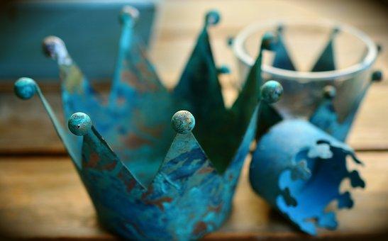 Crown, Metal, Pink, Ball, Arts Crafts, Decoration, Blue