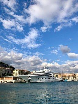Superyacht, Yacht, Boat, Nice, France, Marina, Harbor