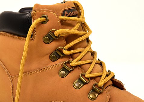 Hiking Shoes, Close, Boots, Leather