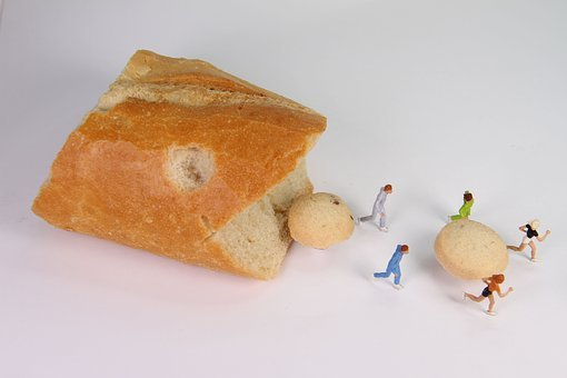 Baked Goods, Food, Miniature Figures, Bread, Baguette