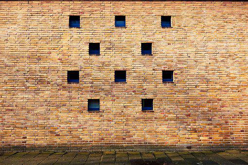 Wall, Brick Wall, Window, Tiny Window, Ten Windows