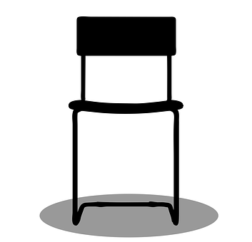 Stool, Chair, Furniture, Interior, Design, White, Decor
