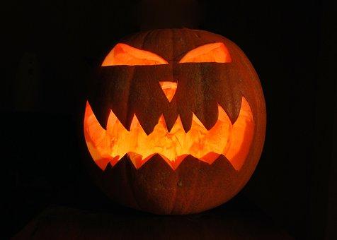 Pumpkin, Halloween, Evil, Flame, Starch, Light, Glow