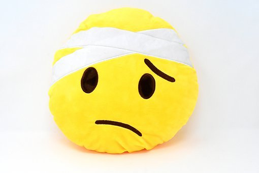 Smiley, Face, Emoticon, Sad, Ill, Get Well Soon