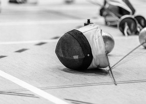 Sport, Fencing, Competition, Fencing Mask, Training
