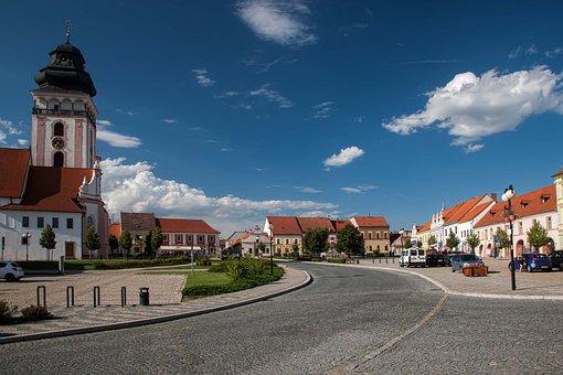 Bechyňe, Czech Republic, Square T, G, Masaryk