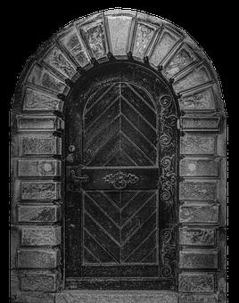 Door, Old, Handle, Input, Architecture, Gothic