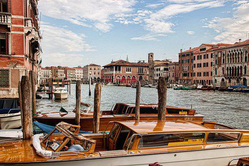 Venice, Italy, Channel, Ship, Port