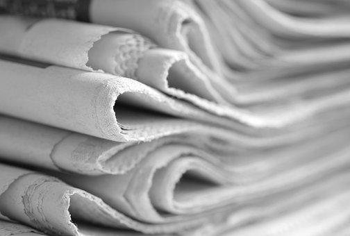 Newspaper, Black And White, Journal, Kranten