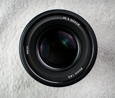 Nikon, Lens, Nikkor, 85mm 1, 8 G, Aperture, Black
