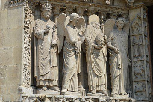 Sculptures, Notre-dame, Paris, Religious Monuments