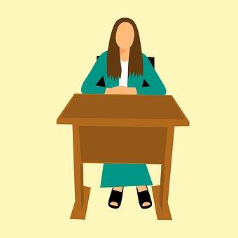 Design, Secretary, Desk, Office, Receptionist, Waiting