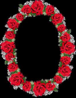 Frame, Border, Red, Roses, Floral