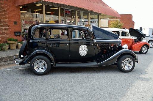 Vintage Car, Auto, Car Show, Design, Nostalgia, Retro
