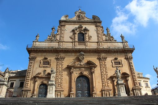 The Cathedral Of San Pietro, Edit, Sicily