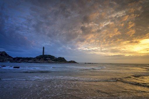 Coast, The Ocean, Summer, Travel, Lighthouse, Kega