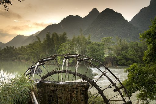 Rivers, River, The Landscape, Wheel, Rice, Tre, Vietnam