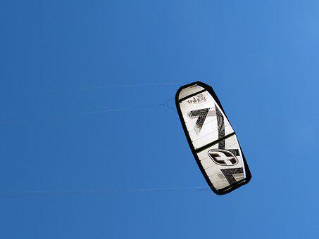 Kitesurfing, Sailing, Sea, Sky, Sport, Kite, Wind