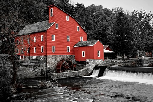 Water, River, House, Architecture, Mill, Clinton Mill