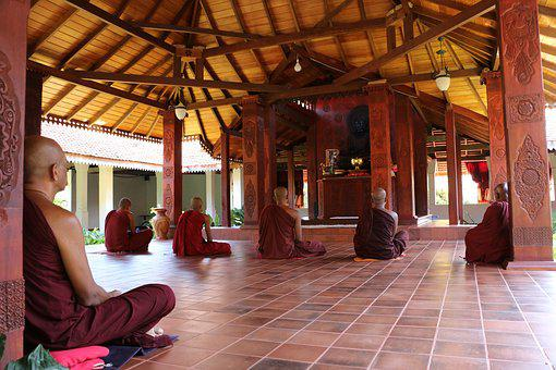 Architecture, Indoors, Travel, Monk, Meditation
