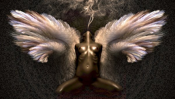 Fantasy, Angel, Brown, Woman, Fairytale, Erotic