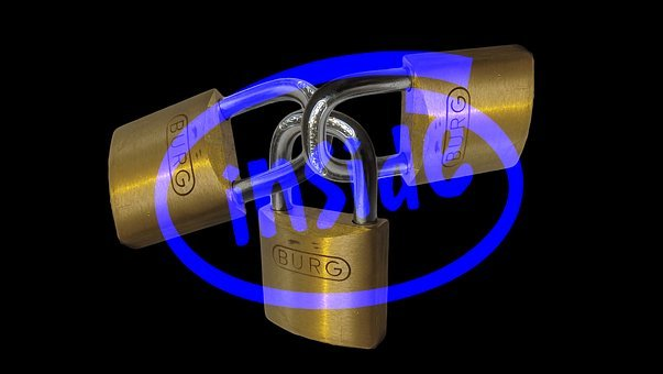 Intel, Padlock, Matrix, Binary, Security, Code