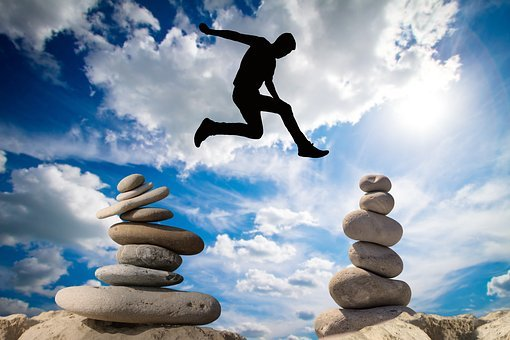 Balance, Risk, Courage, Risky, High Spirits, Rock, Sky