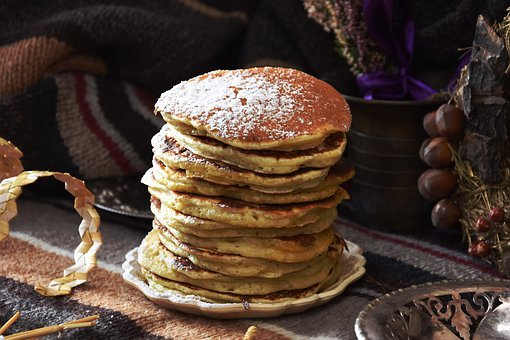Eating, Pancake, Food, Sweet Dish, Breakfast, Sweet