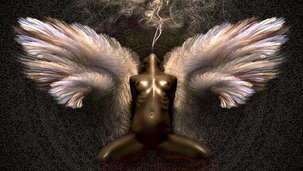 Fantasy, Angel, Brown, Woman, Fairytale, Erotic
