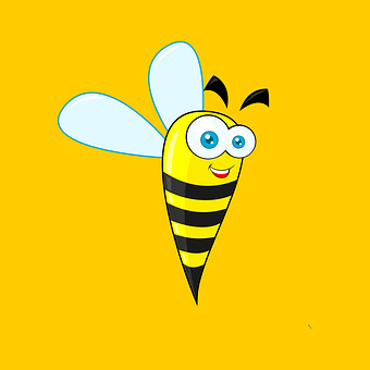 Bee, Fun, Funny, Cute, Smile, Character, Happy, Face