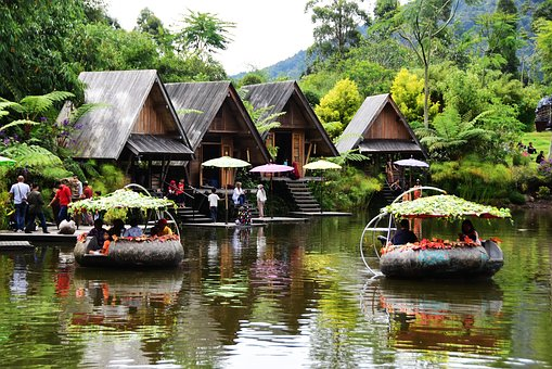 Bamboo Village Dusun Bambu, Ponds, House On Water
