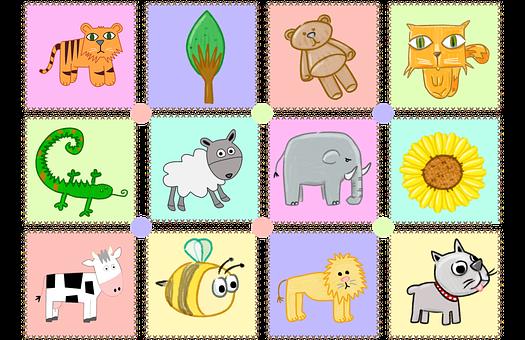 Kiddies, Puzzle, Pieces, Prints, Animal, Kids, Children