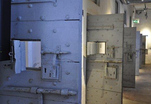 Door, Prison, Cell, Lock