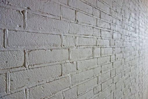Brick Wall, Wall, White Brick Wall, White Wall, Masonry