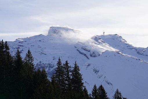 Snow, Mountain, Winter, Panorama, Nature
