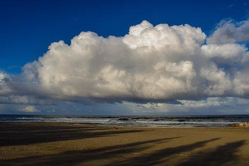 Nature, Beach, Sky, Clouds, Cumulus, Panoramic