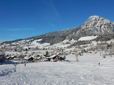 Snow, Mountain, Winter, Nature, Landscape, Bad Oberdorf